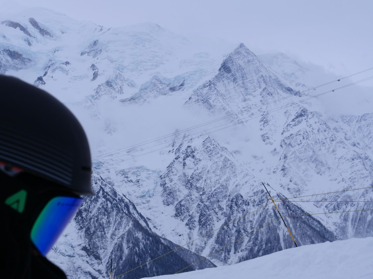 Un jour de neige sur le massif de Massif de Brévent