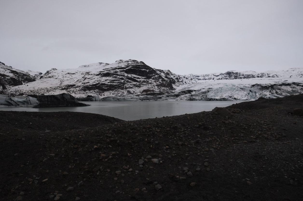Une moraine de fonte en Islande