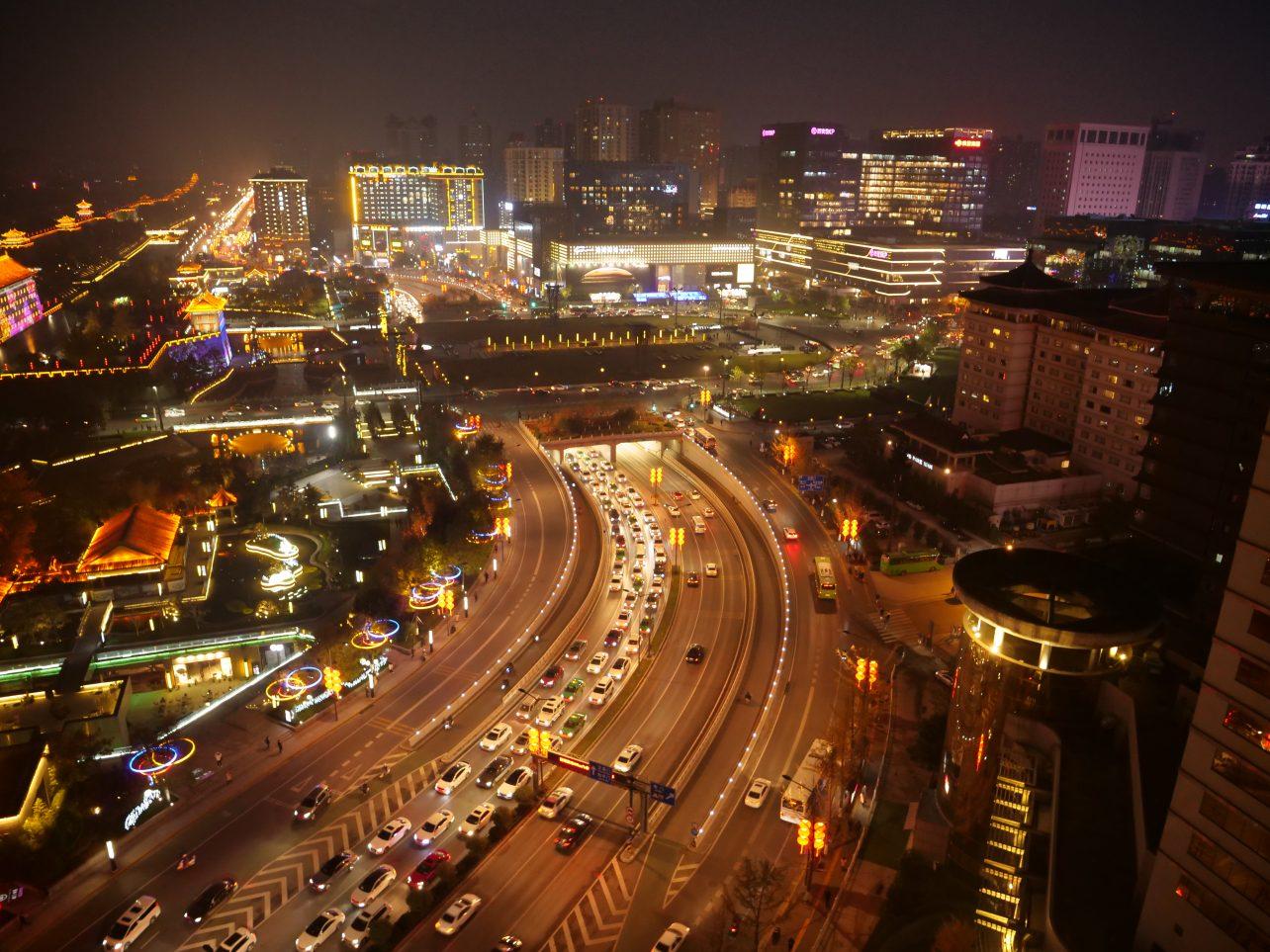 La vue depuis mon hôtel à Xian