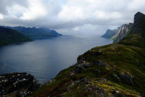 La vue typique dans le nord de la Norvège