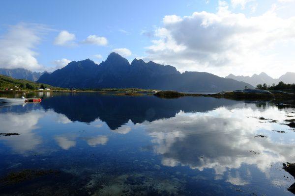 Un paysage typique en Norvège