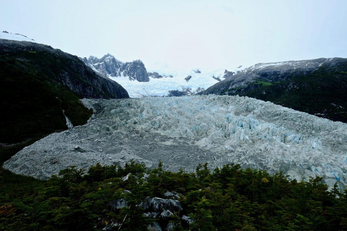 Les moraines du glacier Pia