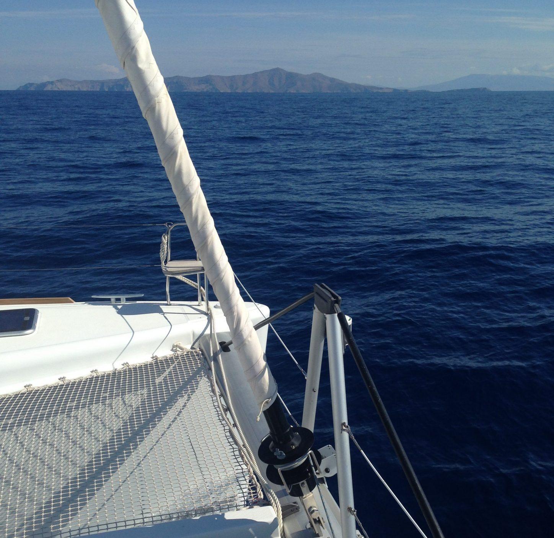 A bord du Lagoon 450 en mer Egée