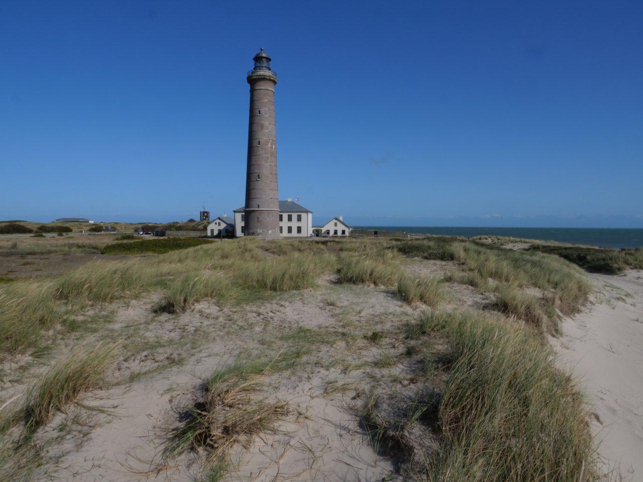 Le phare de Skagen qui marque le cap de Grenen au Danemark