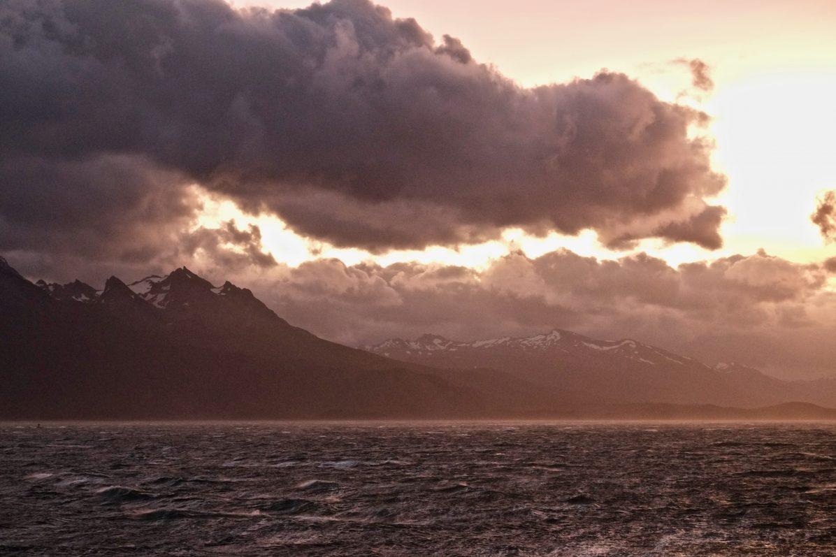 Un coucher de soleil en Terre de Feu