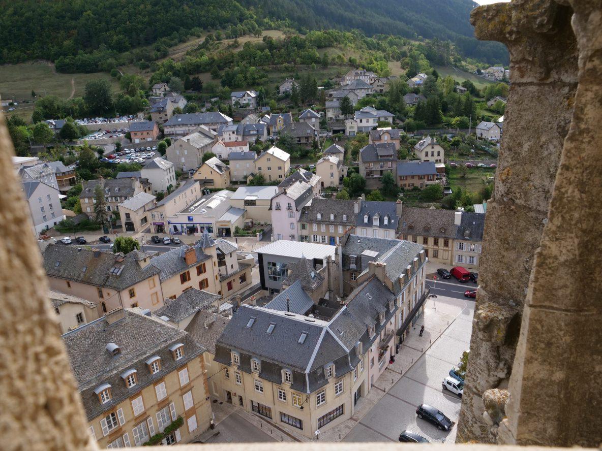 Une vue depuis la tour de la cathédrale de Mende