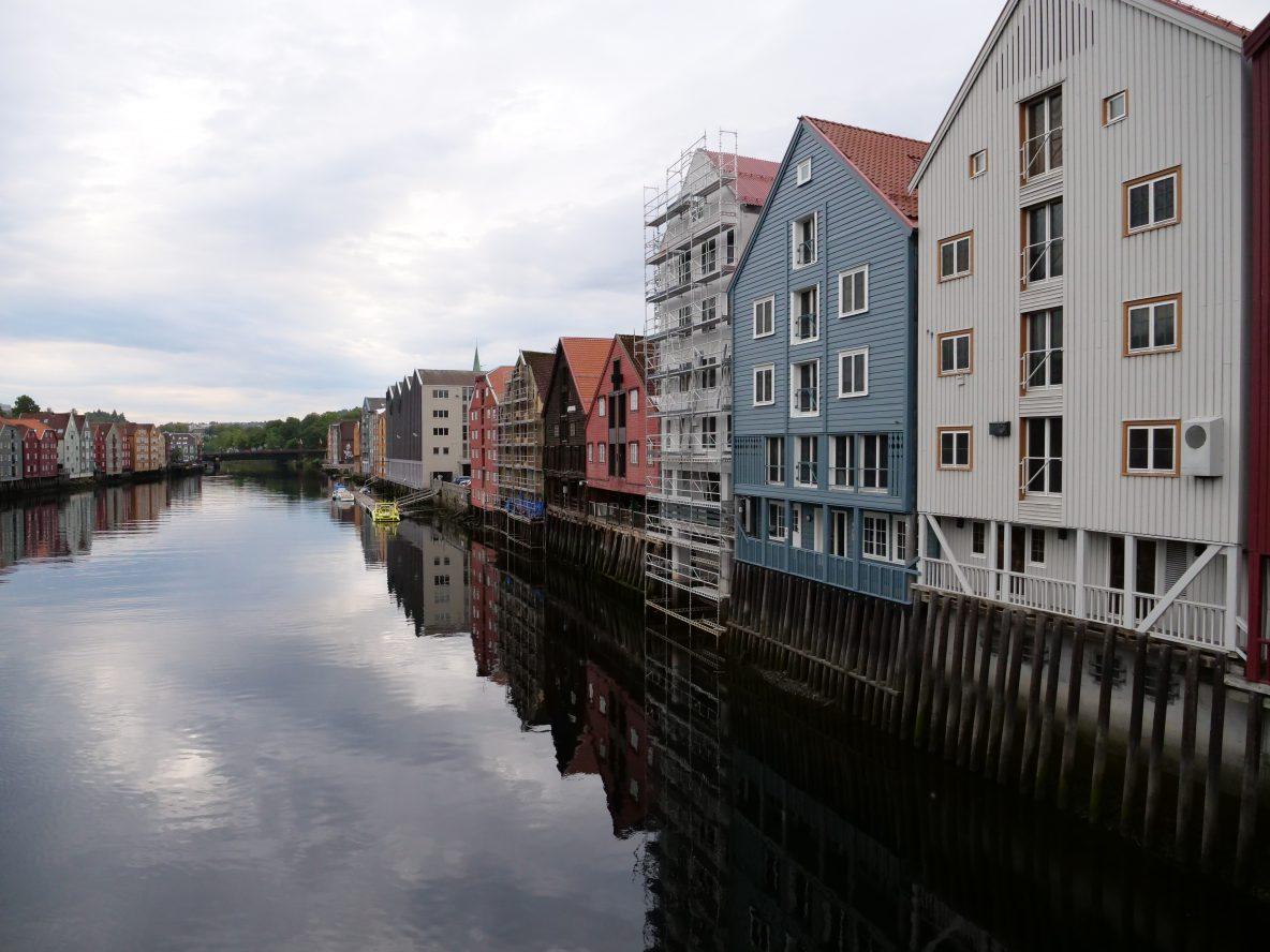 Sur les quais de Trondheim