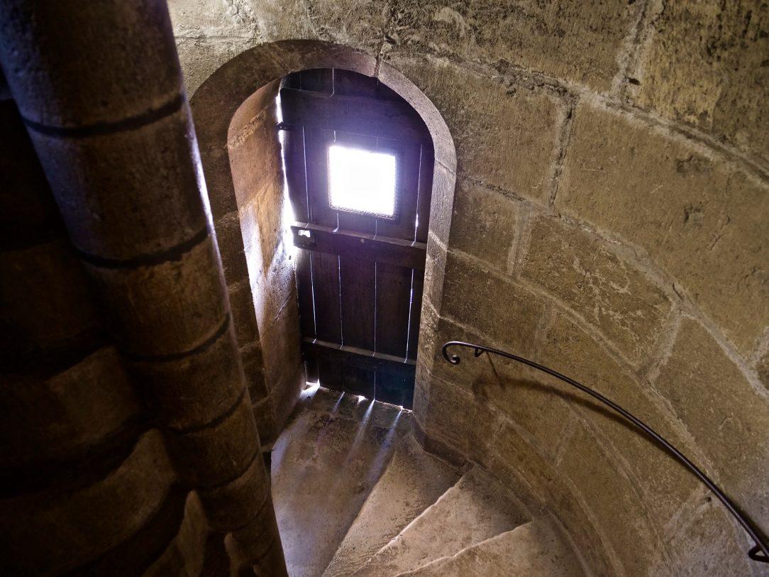Les escaliers de la tour des Pénitents