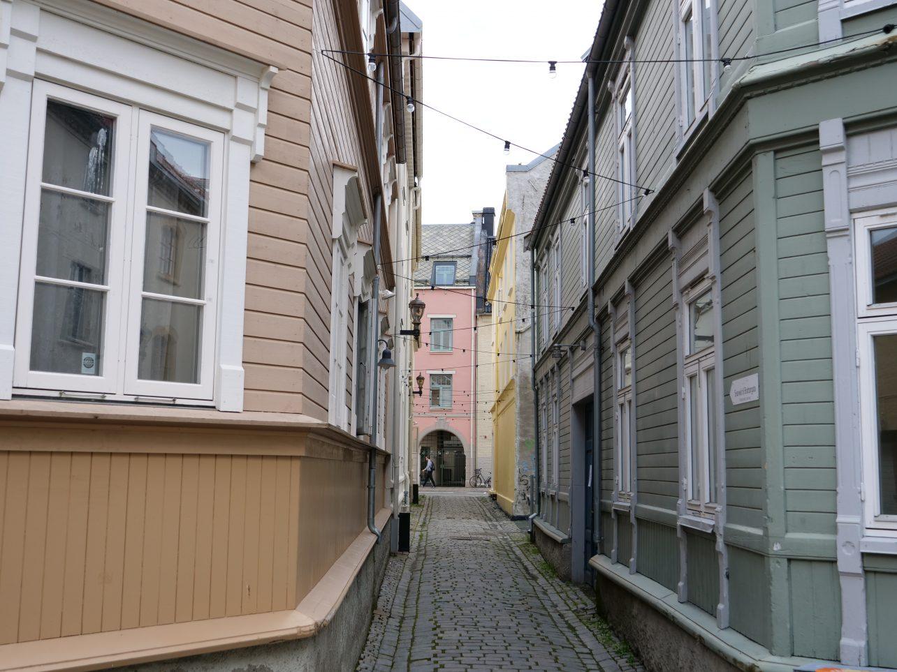 Maisons et bardages en bois à Trondheim