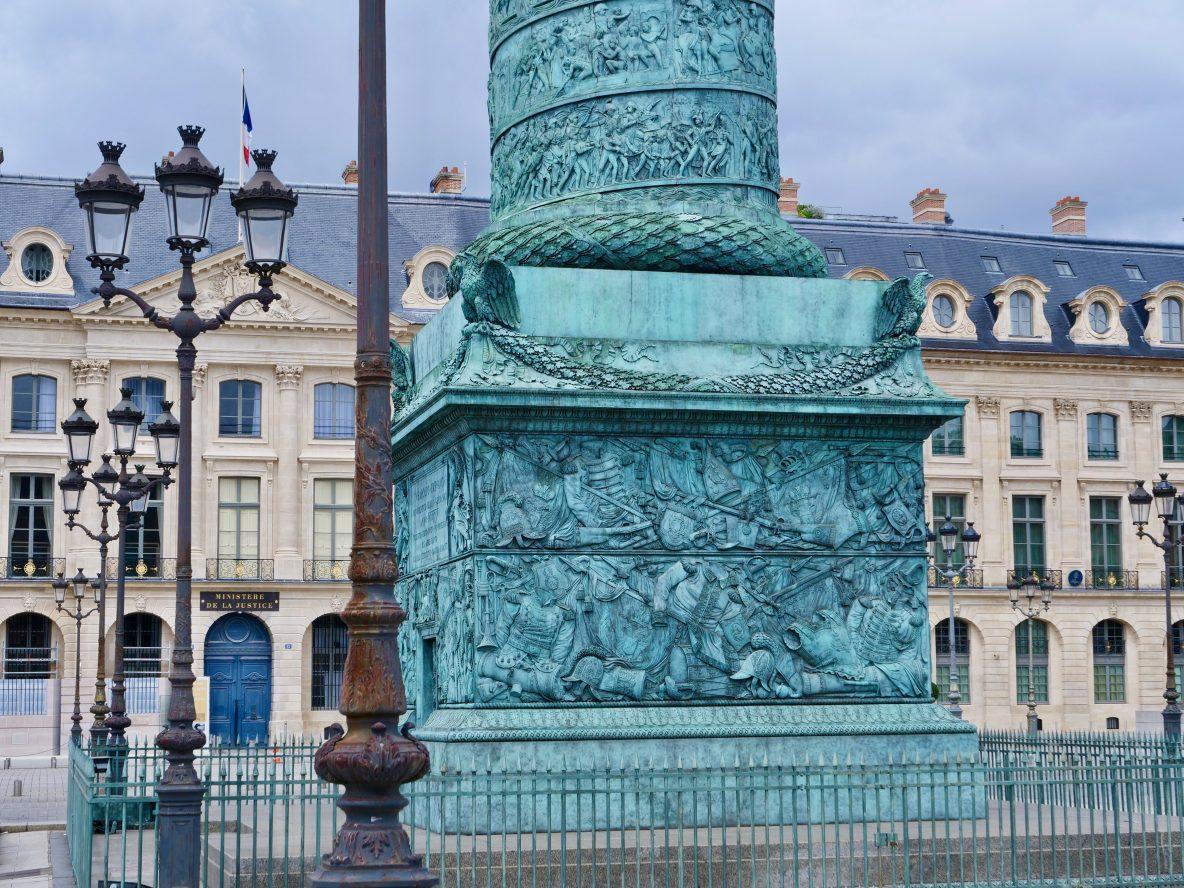Place Vendôme une superbe colonne