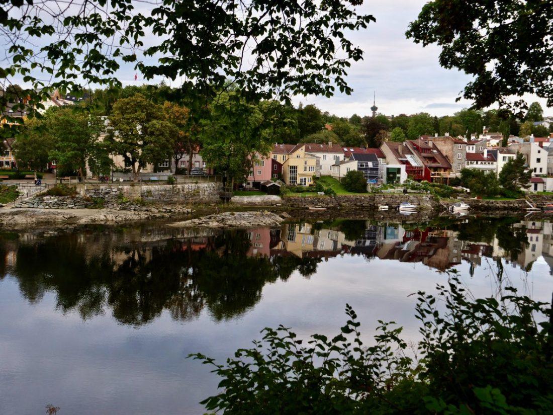 Une ville paisible en Norvège