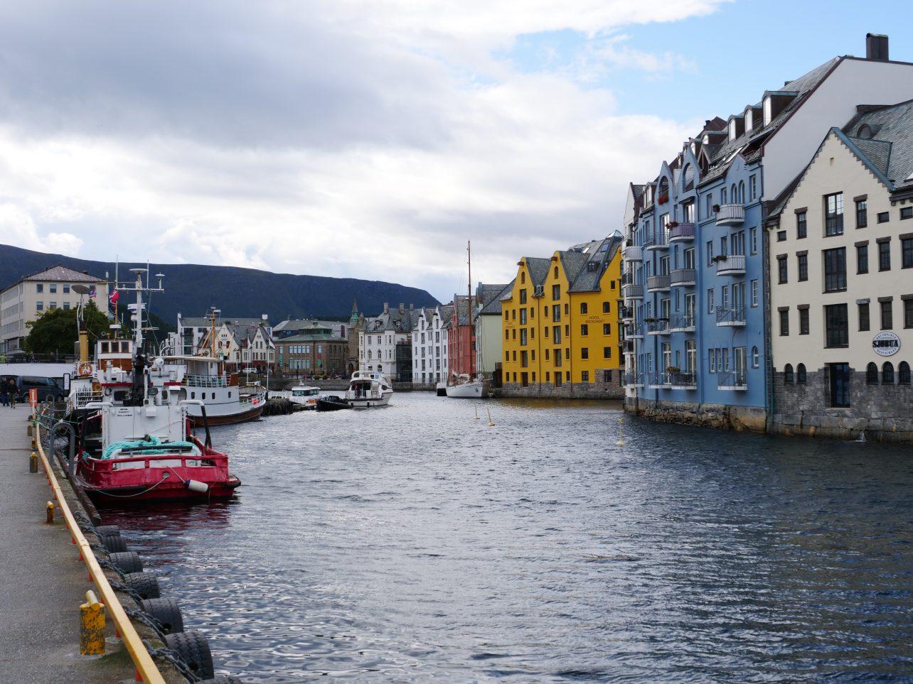 Les quais d'Alesund, une ville vraiment chaleureuse