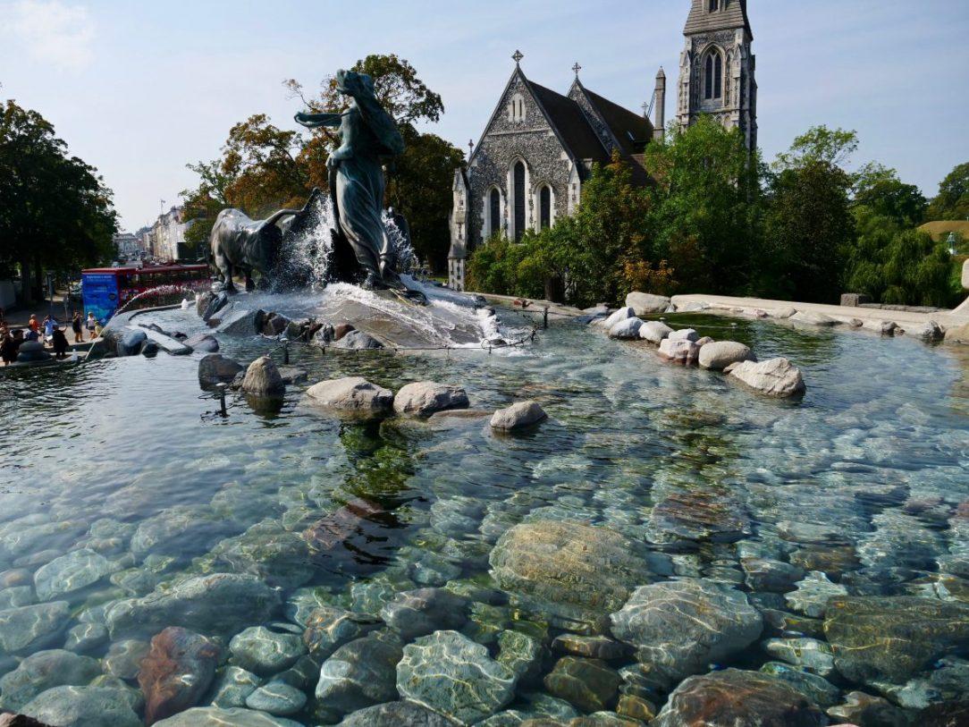 Une jolie fontaine à Copenhague