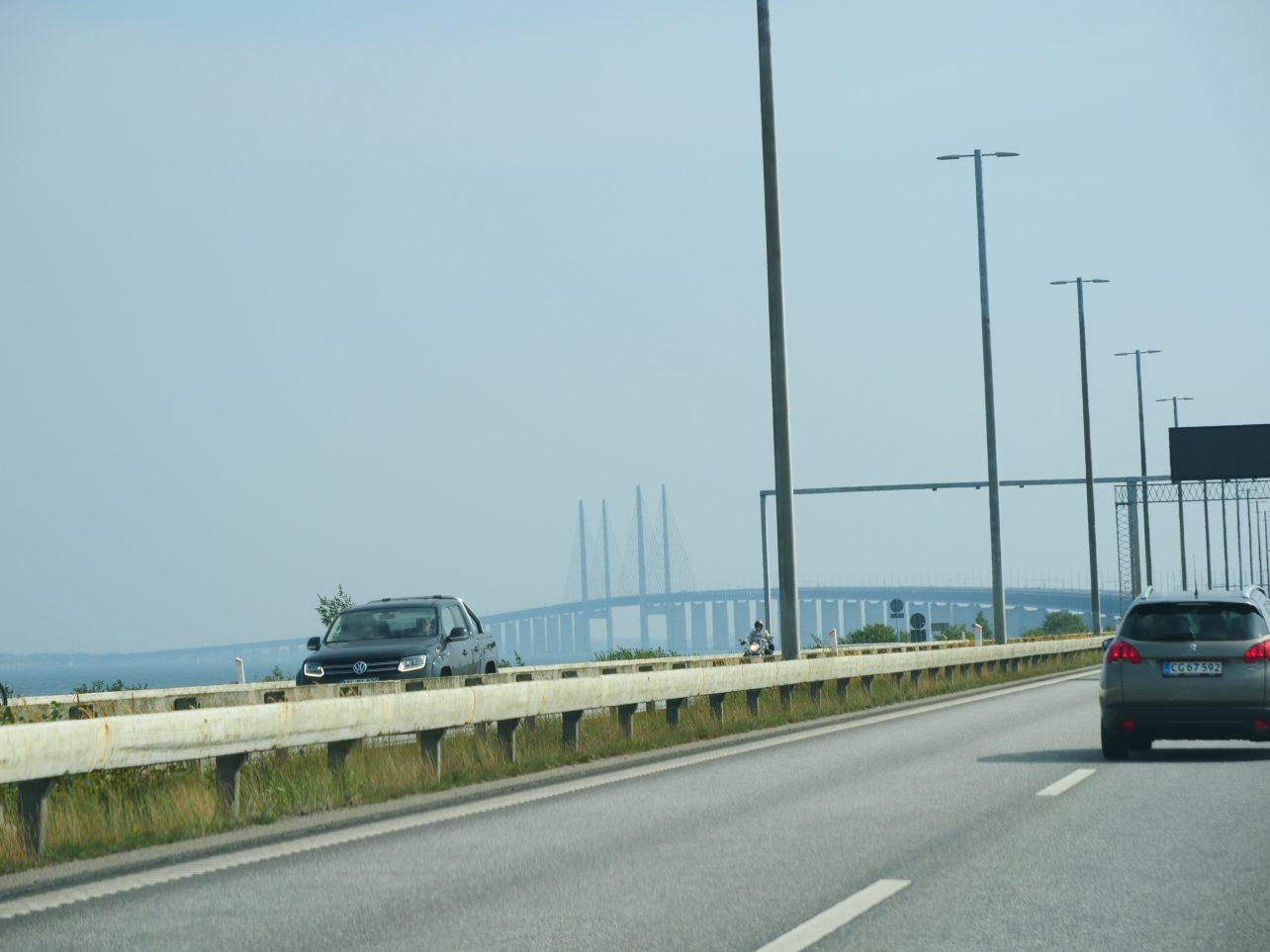 La vue sur le pont d'Oresund qui enjambe la Baltique
