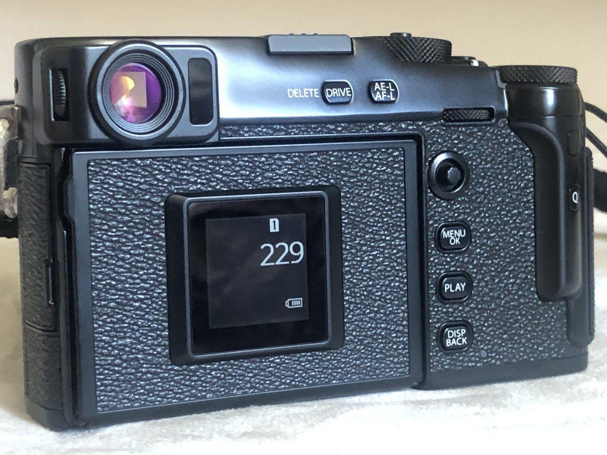 Fujifilm la vue arrière du X-Pro 3