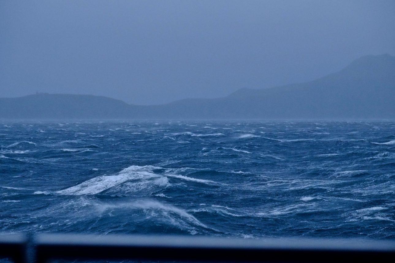 La mer est déchaînée en cette fin du mois de janvier