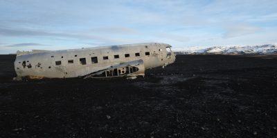 L'Islande et l'avion abandonné de l'US Navy