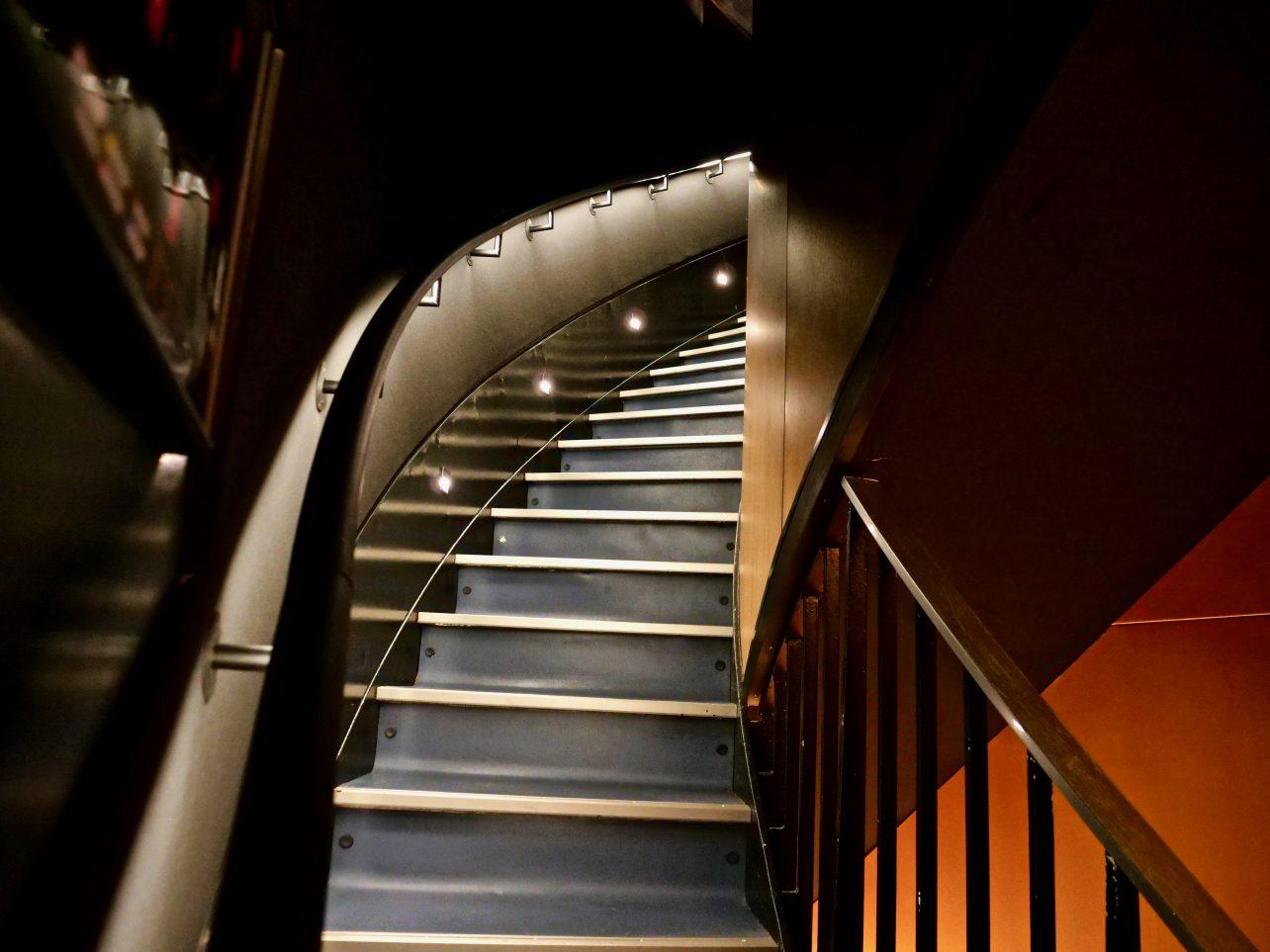 Les escaliers de la Tour de Contrôle