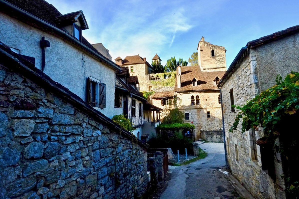Dans les petites ruelles de Saint-Cirq Lapopie