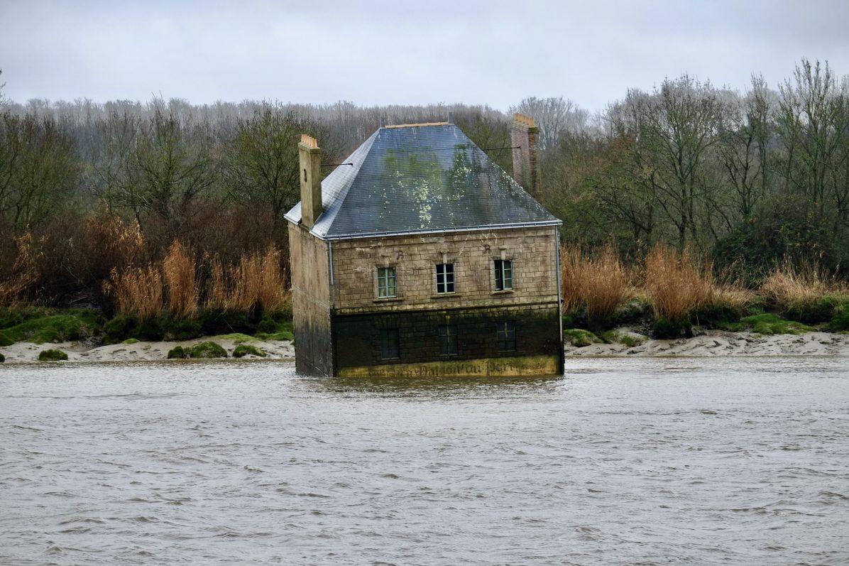La maison dans la Loire en hiver