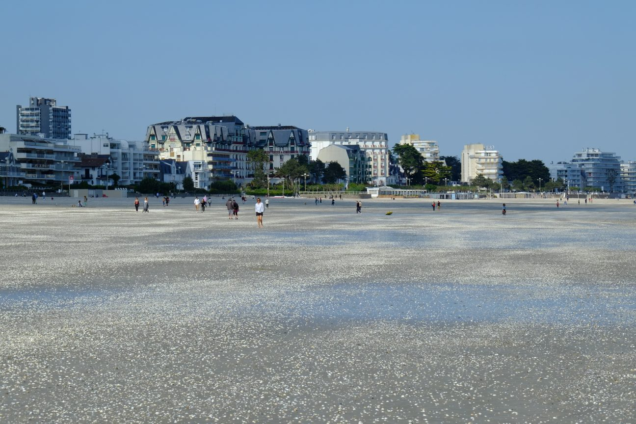 La plage Benoît et des coquillages à marée basse