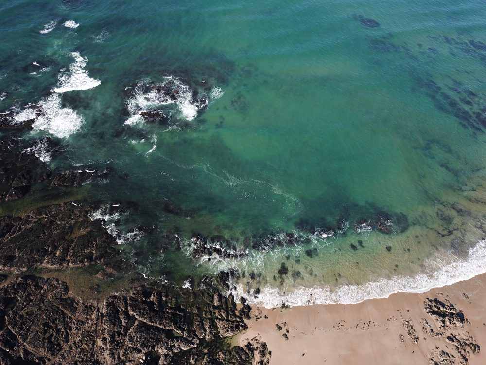 La plage de la Govelle à Batz sur mer