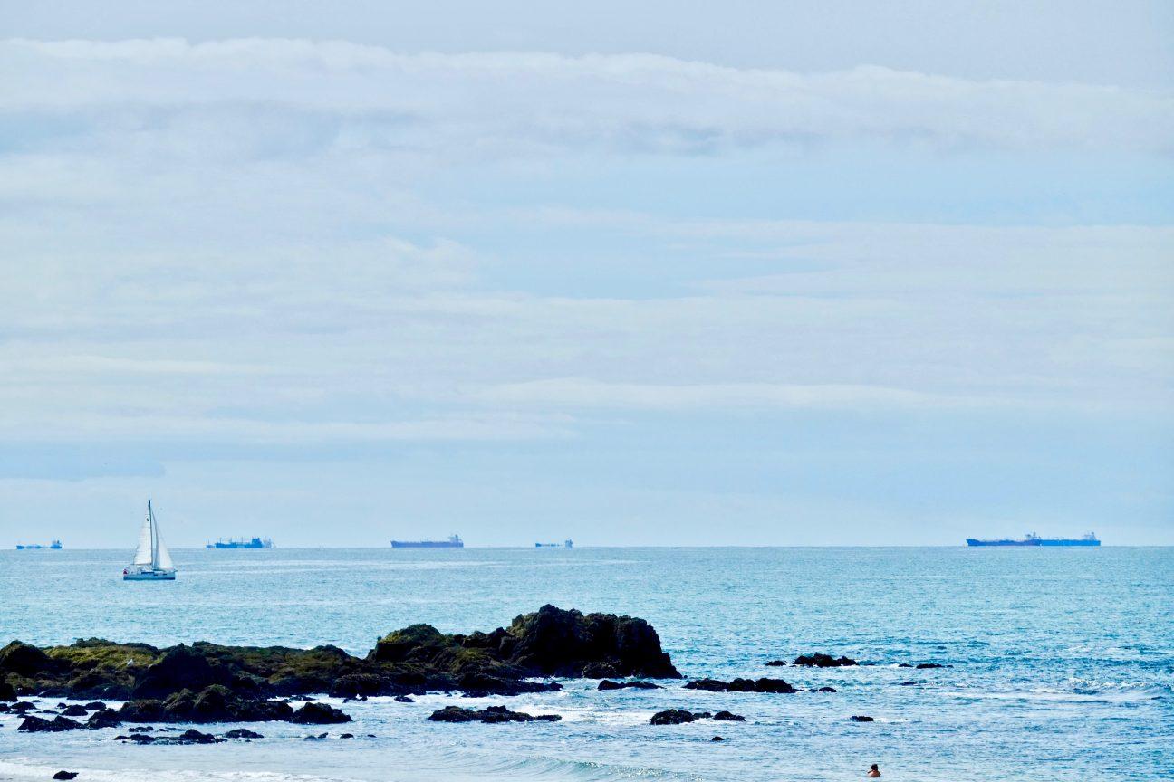 La vue depuis la côte sauvage de Batz sur mer