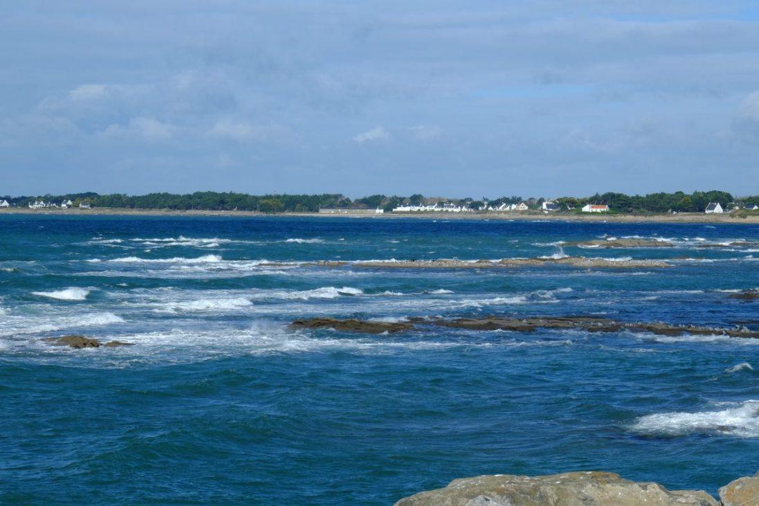 La vue vers Lérat depuis le port de la Turballe