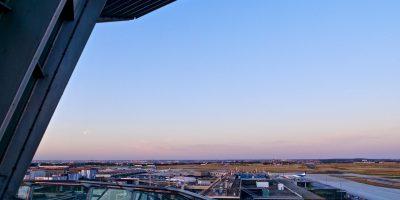 Une belle fin de journée depuis l'aéroport d'Orly