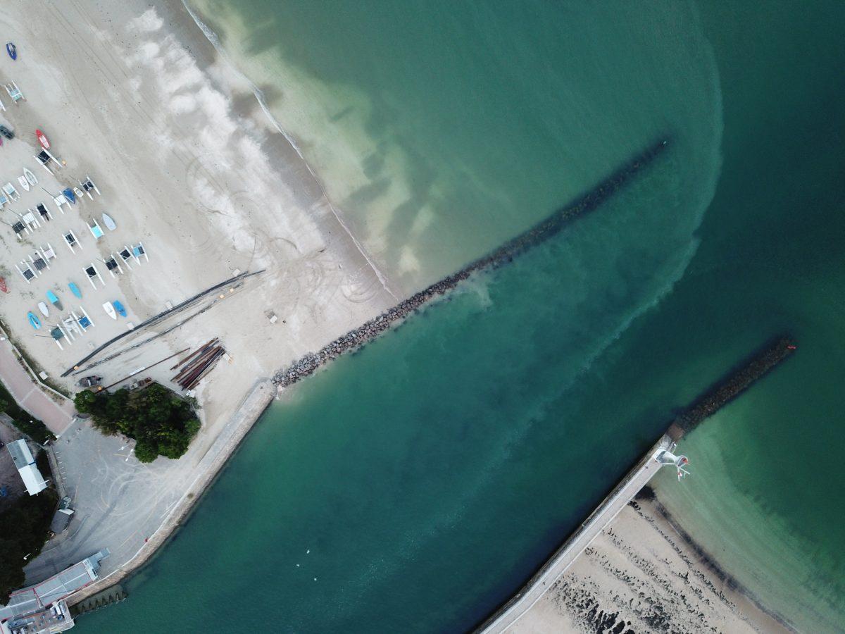Une vue aérienne sur le port de la Baule et du Pouliguen