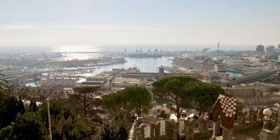 L'une des vues à couper le souffle sur la belle ville de Gênes