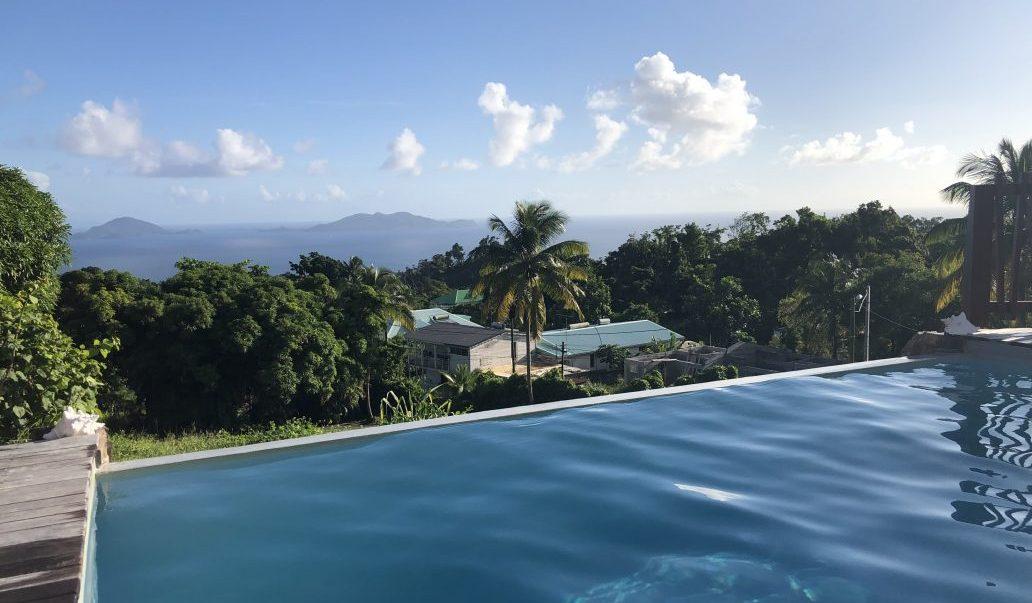 La vue depuis le jardin Malanga