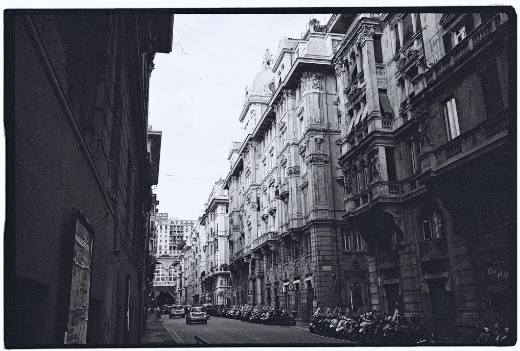 Dans les rues du centre de Gênes