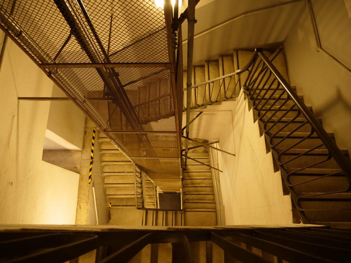 A l'intérieur du phare de Gênes