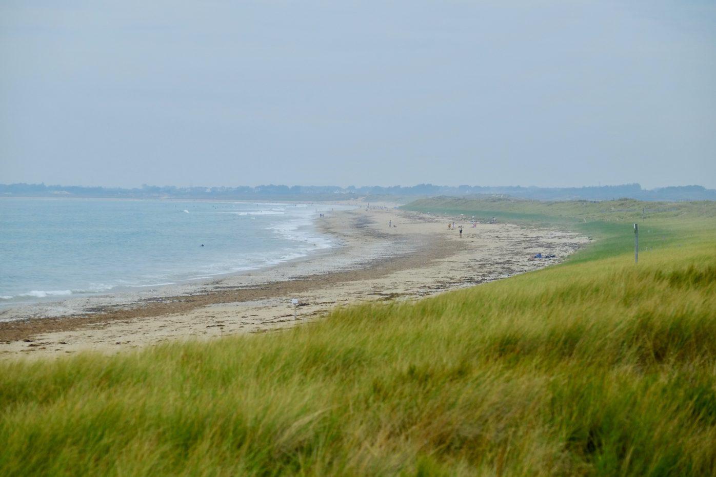 Une plage magnifique bordée par les dunes