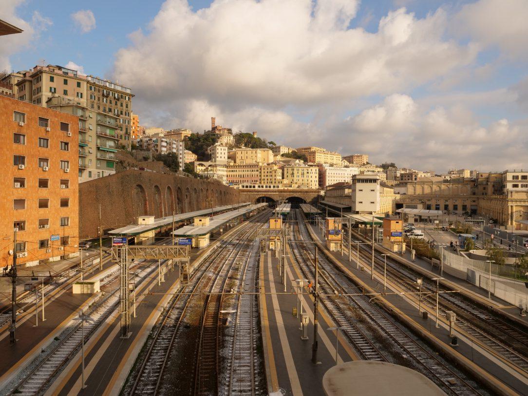 Une jolie vues sur les toits de Gênes