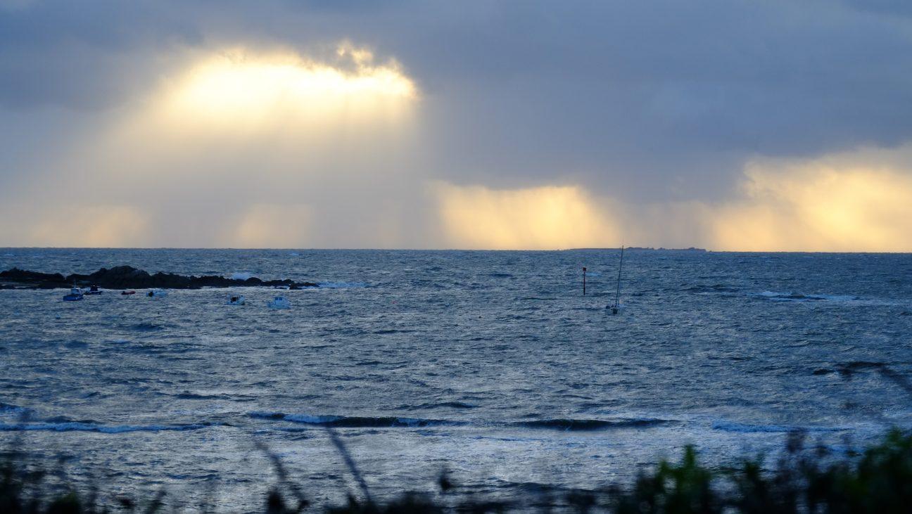 Une fin de journée sur le bord de l'Ocean Atlantique