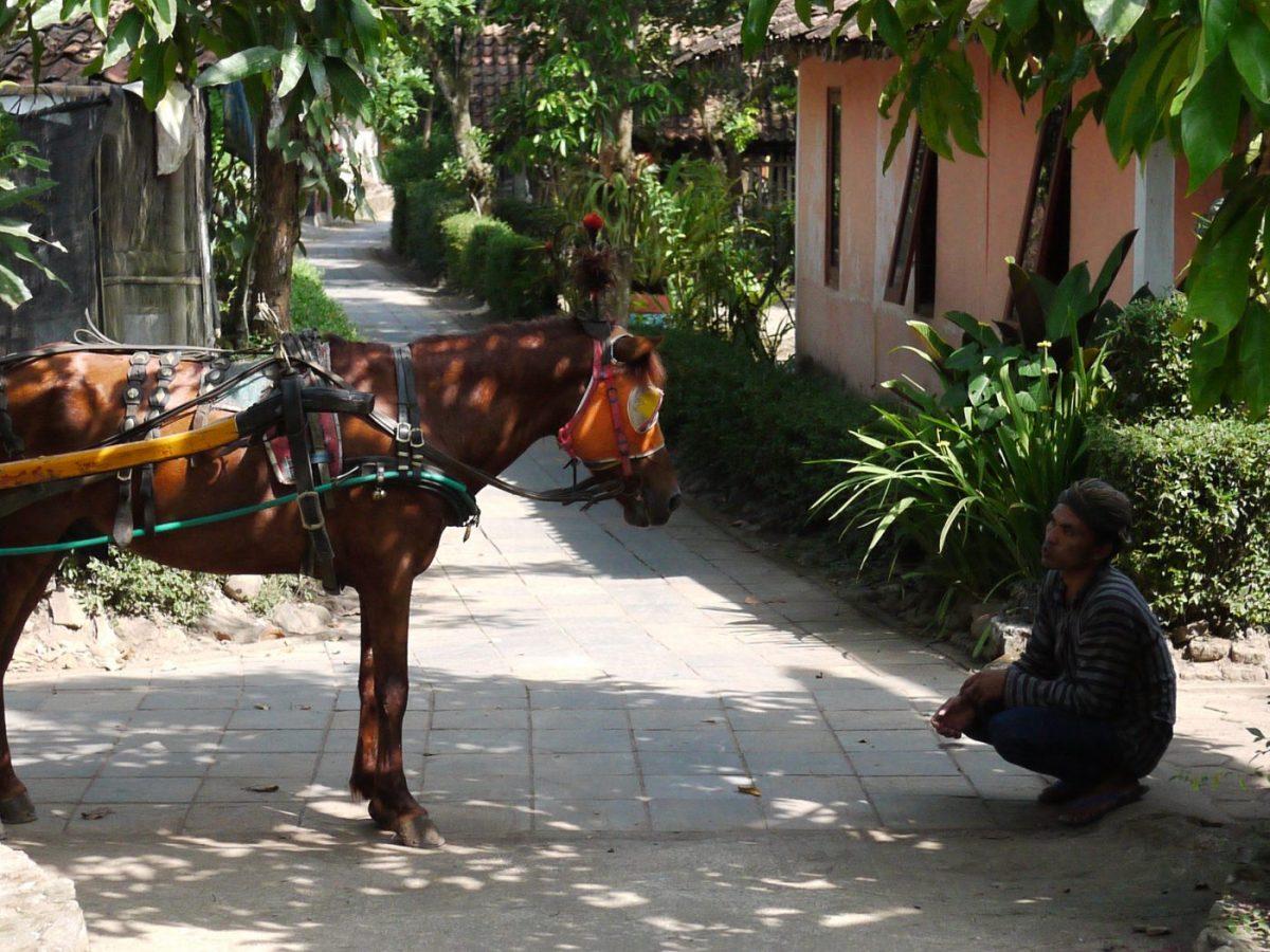 Dans les rues, quelque part sur l'île de Java