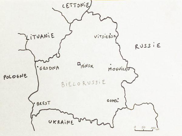 La carte de la Biélorussie