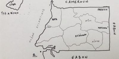La carte des plus grandes villes de Guinée Equatoriale