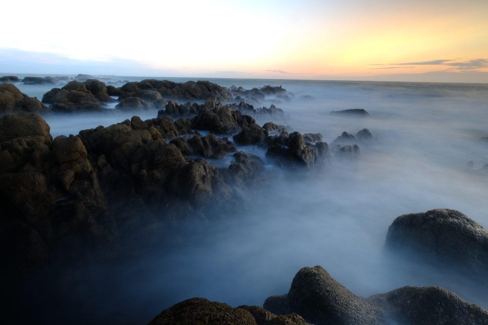 La côte sauvage de Piriac sur mer au coucher du soleil