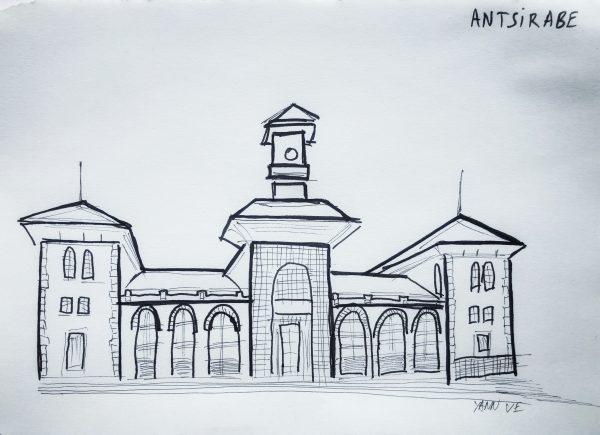 La gare d'Antsirabe, l'un des principaux monuments de la ville