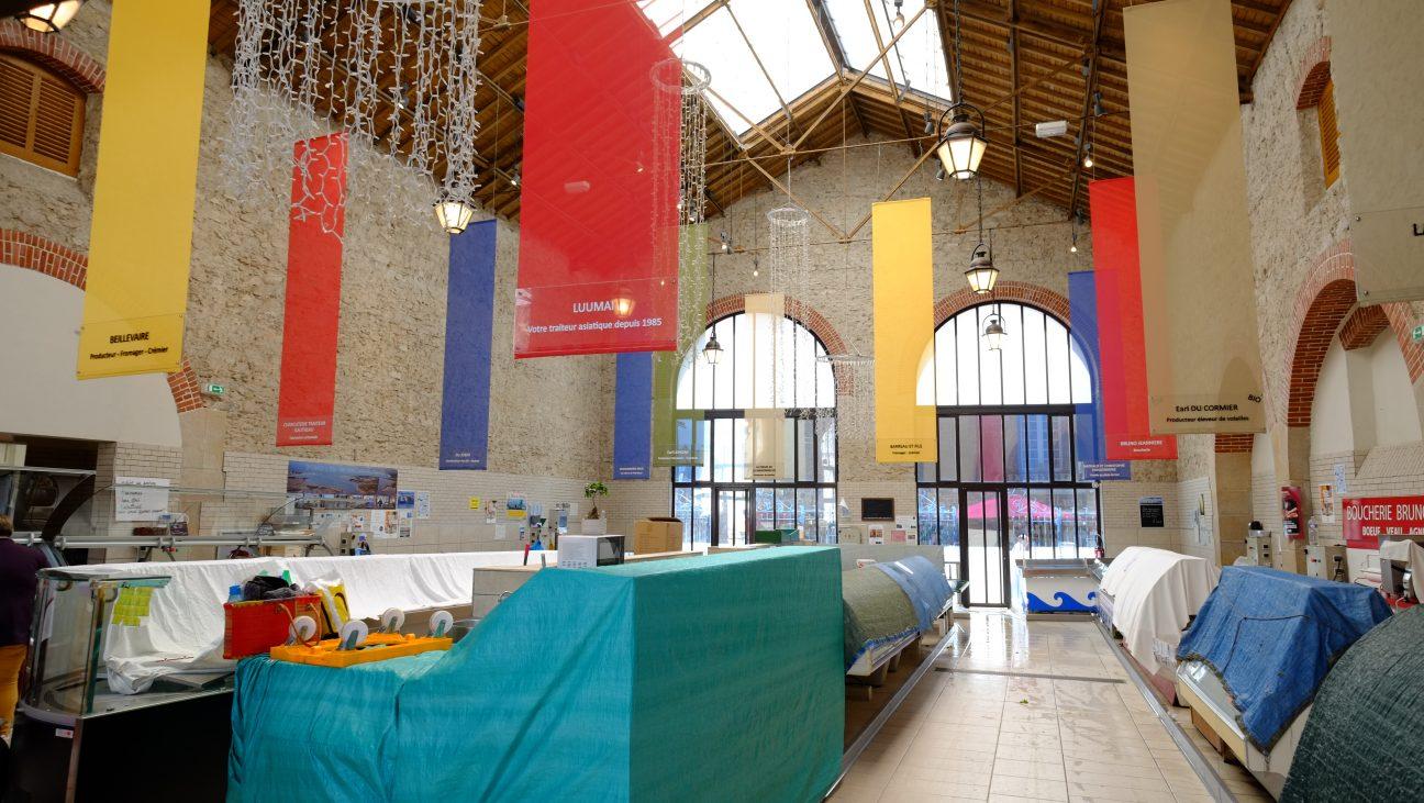 La halle du marché couvert de Guérande