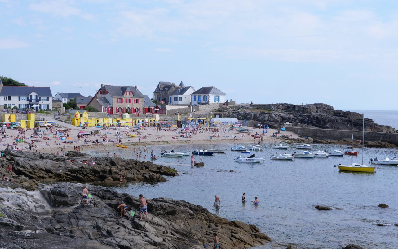 La plage Saint-Michel en plein été