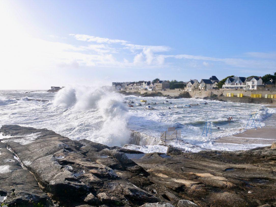 Le port Saint-Michel un jour de tempête