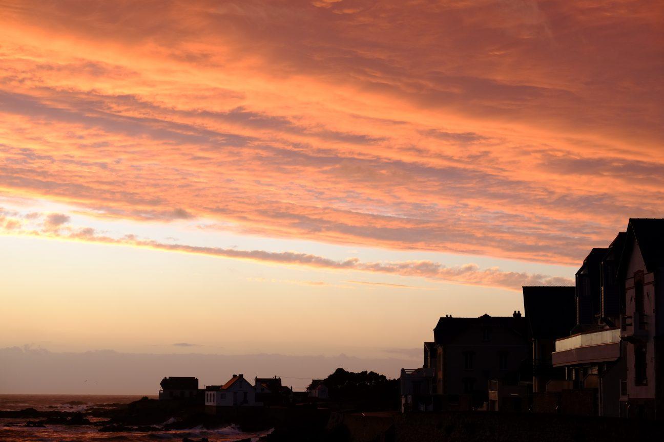 Un coucher de soleil depuis le port Saint-Michel de Batz
