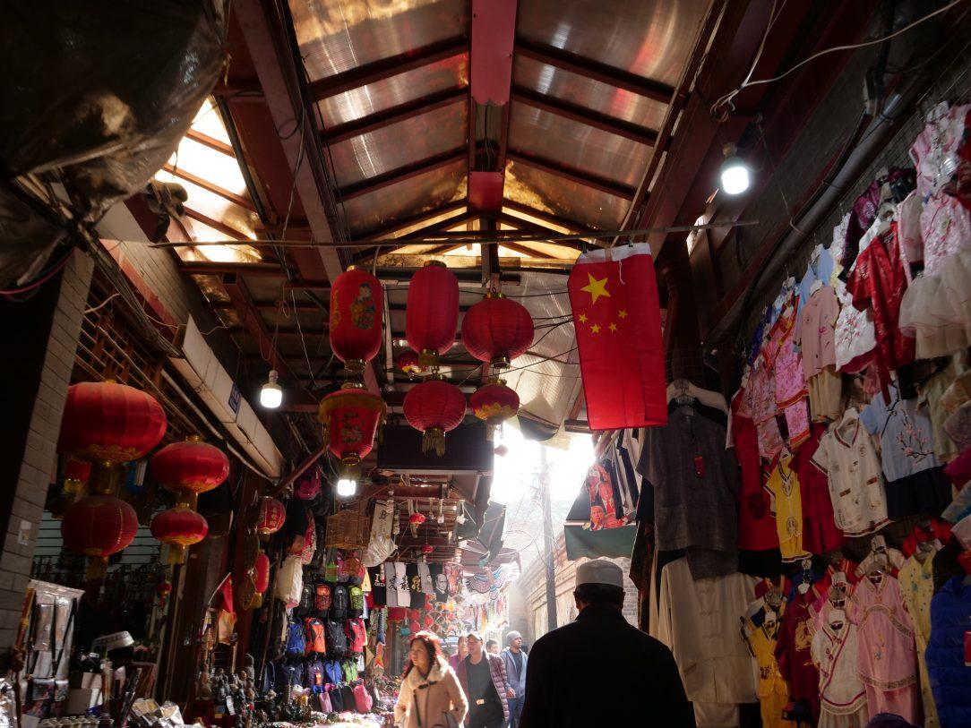 Dans le marché du quartier musulman de Xi'an