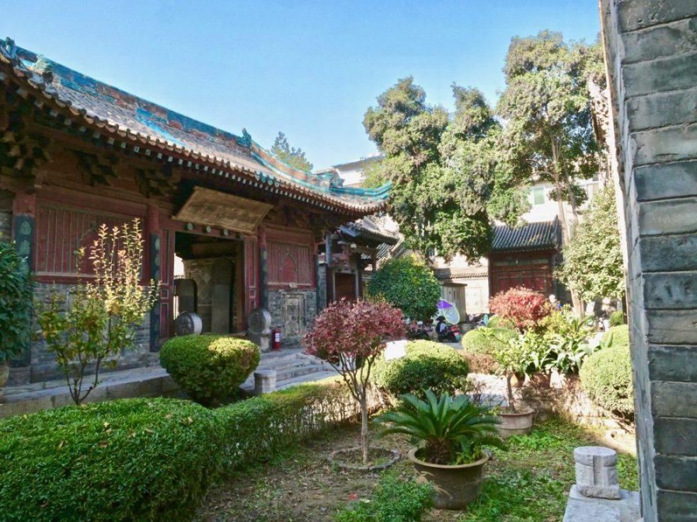 Dans les jardins de la Grande mosquée de Xi'an