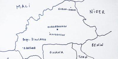 La carte des plus grandes villes du Burkina Faso