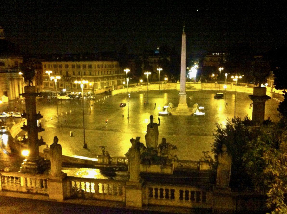 La place du peuple lors d'une escale à Rome